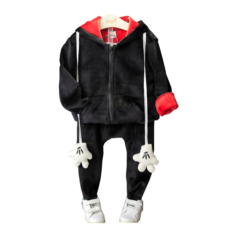 Children Clothing Set New Baby Girls 2pc Set Cotton Hooded Cartoon Hands Zipper Coat Pant Girls Tracksuit For 2-7Y Sport suit<br><br>Aliexpress