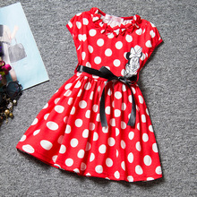 fashion  european summer style cotton red polka dot baby girl clothes dresses