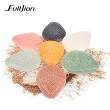 Fulljion Natural Konjac Sponge Cosmetic Puff Face Exfoliator Wash Cleaning Sponge Plant Cotton Bamboo Puffs Facial Cleanser Tool(China)