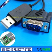 win8 win10 prolific pl2303ta usb rs232 serial vcp db9 adapter converter cable(China)