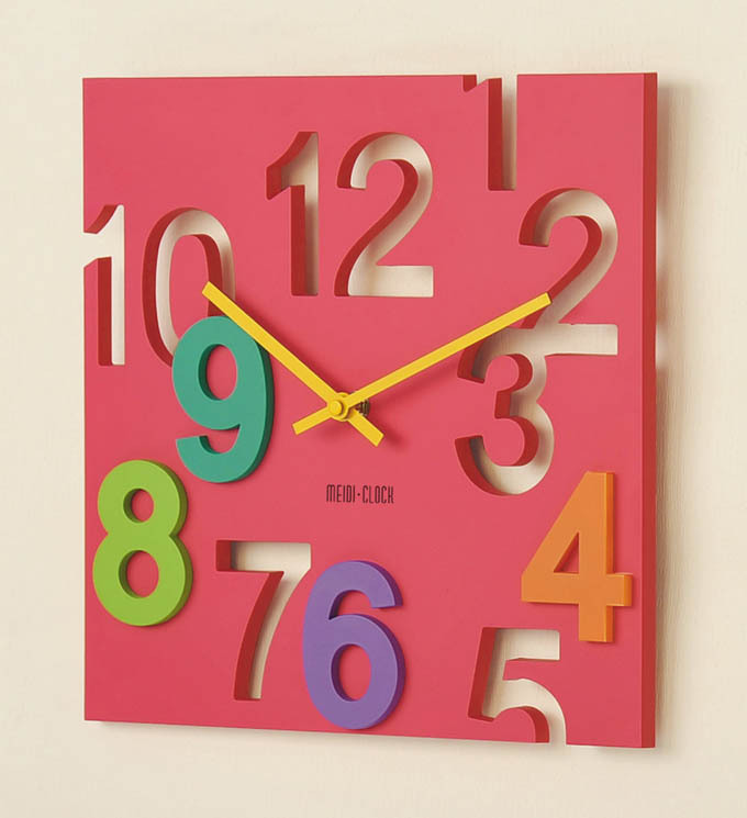 Fashion Creative Electronic Wall Clock Sitting Room Free shipping 3 Colors(China (Mainland))