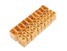10 Pairs XT30 XT60 XT90 Yellow Battery Connector Set 4.5mm Male Female Gold Plated Banana Plug(China)