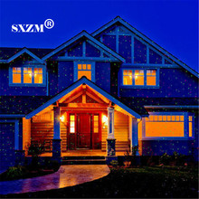 SXZM Waterproof led laser light Christmas Lawn Light Sky Star Projector Landscape Stage Spotlight Park Garden Xmas Decoration(China)