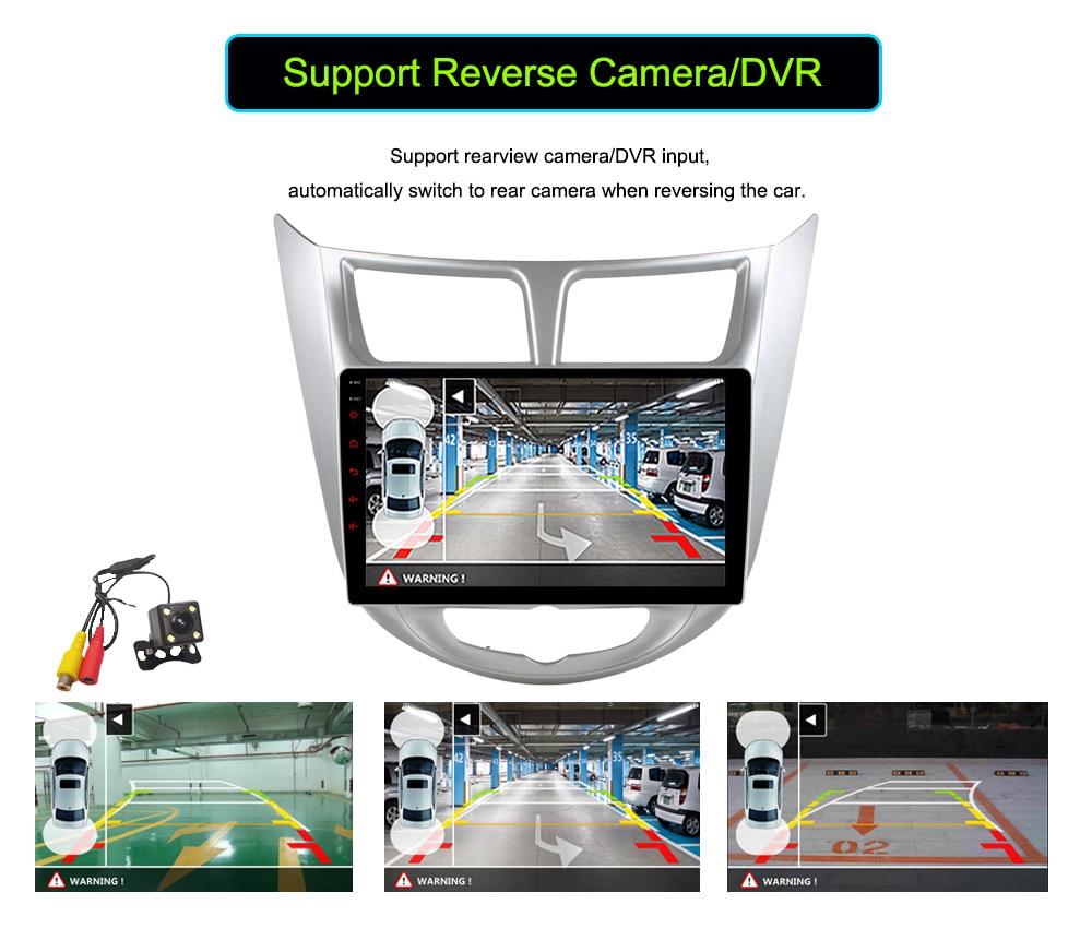 Quad Core 1024600 Android 6.0 Car DVD GPS Player For Solaris Verna Accent Car PC Headunit Car Radio Video Player Navigation dvr