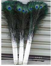New! 50 pc quality natural peacock feathers, 28-32inches / 70-80cm DIY-  wedding, living room, decorated flower vase