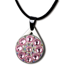 Necklace-Sets Mark Golfers Ladies/children Crystal-Ball Gifts Cotton PINMEI with Black