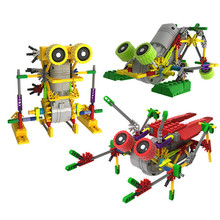 LOZ Creative DIY Assemblage Electric Motor Robots Models & Building Toys Hobbies Children Educational Gear Blocks For Boys(China)