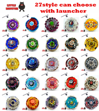 27 style can choose 1pcs  Beyblade Metal Fusion 4D System Battle Top Metal Fury Masters with Launcher   BB105 BB119 BB120 BB122