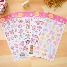 1pcs/lot  Kawaii Japan cartoon Kanahei design PVC sticker set Scrapbook deco label sticker kawaii office school supplies