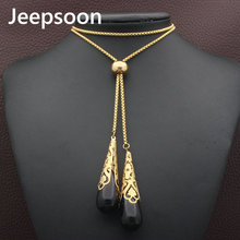 Buy Jeepsoon Fashion Stainless Steel Jewelry Woman 880mm Long Sweater Chain Necklace High Newest NEIFCHBH for $5.16 in AliExpress store