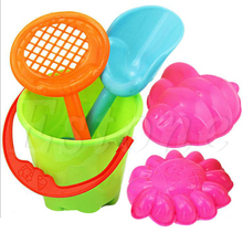Tiny Beach Sand Toys Tools Bucket Set For Toddler Kids Children(China)