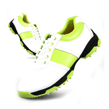 PGM Brand Superfine Leather Anti-skid Golf Shoe Women 3D Air Guide Groove Patent Shoes Waterproof Leisure Sport Sneakers