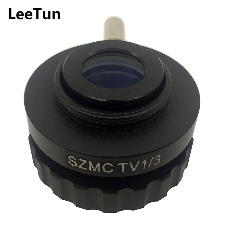 LeeTun 0.3X C Mount Adapter Reduce Lens for Trinocular Stereo Microscope 1/3 CTV CCD Connecting with USB Camera SZMCTV1/3<br>