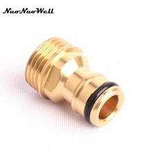 "3pcs NuoNuoWell 1/2"" Male Thread Quick Connector 100% Brass Tap Adapter for Garden Irrigation Watering Hose Pipe Fittings(China)"