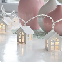1.5M / 10 LED House Battery Lampion Christmas Decoration Light String Wedding Party String Lights
