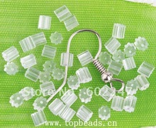 Free shipping Rubber Cube Earring Back Stoppers TUBE, Column Shape Clear Soft Rubber Earring Back Stopper, 5000pcs/lot(China)