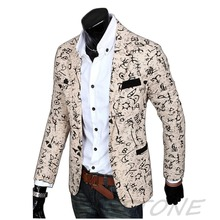 New Stylish Men's Casual Slim Fit One Button Suit Blazer Coat Jacket Outwear
