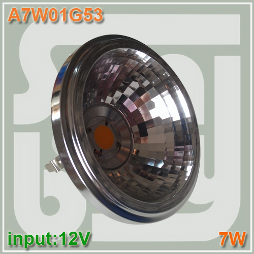 Free shipping LED AR111 COB reflector 7W G53 12V 770LM replace to 50W bulb high lumens two year warranty 7w AR111 spotlight bulb<br><br>Aliexpress