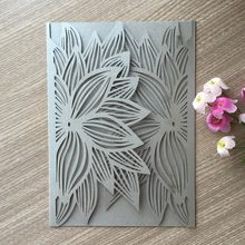 Online get cheap greeting card kits aliexpress alibaba group 50pcs silver laser cut pretty design flower pattern wedding invitations cards elegant birthday greeting card kits decoration m4hsunfo
