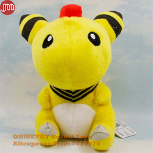 OHMETOY Pocket New Ampharos Plush Doll Anime Figure Toy Brinqueods 19cm Stuffed Animal Kids Birthday Gift(China)