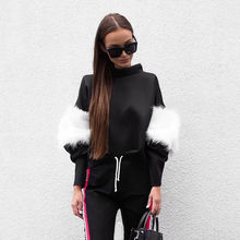 Buy New Women Sweatshirt Long Sleeve Plush Sweatshirts Autumn Hoodies Pullover Crop Tops Fashion Women Clothes for $7.88 in AliExpress store