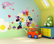Cartoon Mickey and Minnie Mouse Decor Kids Baby Nursery Decals Wall Sticker the little prince decor(China)