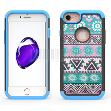 For iPhone 7/7 Plus Dual Layer Tribal Totem Printed Case Heavy Duty Hybrid Rugged Shockproof Cover For Apple iPhone 7/7 Plus