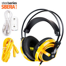 Brand Steelseries Siberia V2 Natus Vincere Gaming Headphones Noise Isolating Headphone Headset +Extension cord+sound card