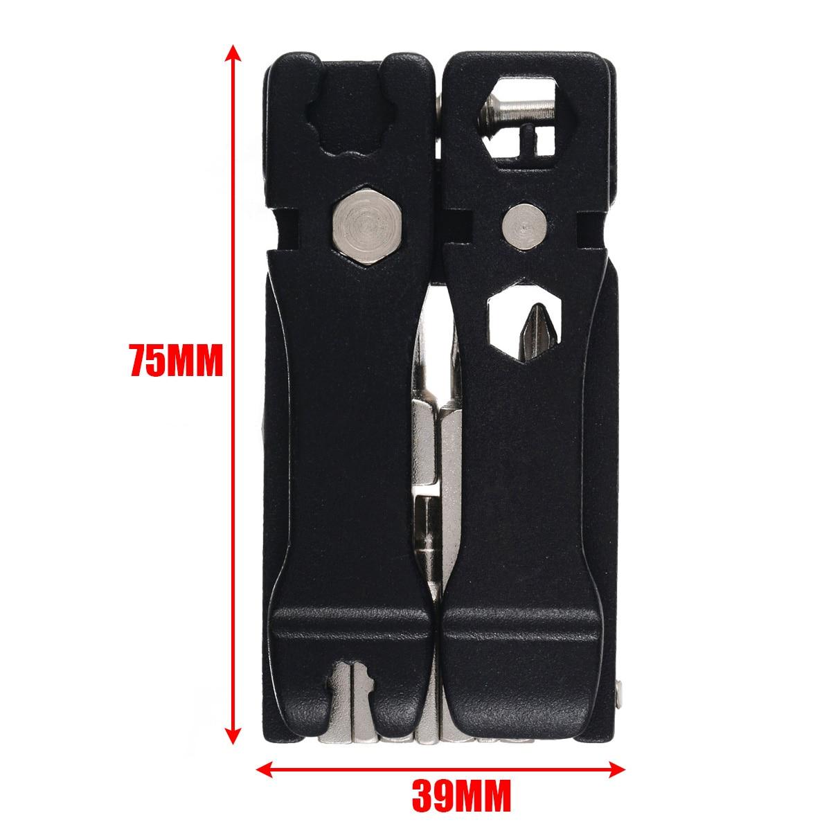 Mayitr 1 set  19 in 1 Mini Repair Pocket Folding Tool Bicycle Repair Multitool Folding Tool Repair Kit Wrench Sets