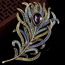 Women Vintage Brooches accessories Leather Brooch Pin Crystal Rhinestone Animal Jewelry Garment Accessory Nicely Hats Bijoux