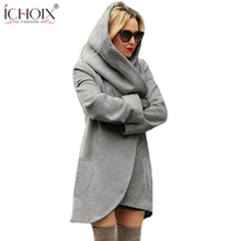 Women Autumn Winter Solid Long Ladies Hoodies Loose Oversize Hooded Sweatshirts Long Sleeve Female Casual Girl Pullover Clothing(China)