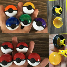 5 pcs/lot Pokeball Pikachu Action Figures Inside New High Quality Pikachu Charmander Anime Plastic Ball Kids Gift Toys