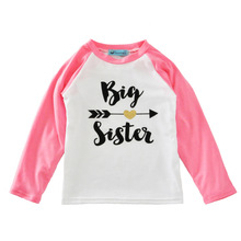 Baby Girl Clothes Long-sleeved T-shirt Cotton Arrow Letter Kids T-shirt Girls Clothes Children's Bottoming Tees Tops Kids Clothe