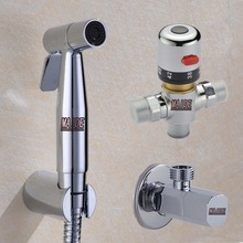 Free shipping Thermostatic Mixer Staianless Steel Hand Toilet Bidet Shower Spray Douche Valve