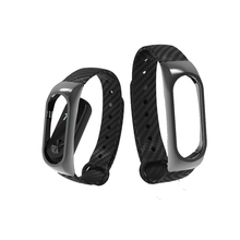 Buy Extended Version Strap Xiaomi mi band 2 Carbon Fiber Silicone+Metal Frame Replacement Bracelet miband 2 Smart Wristband E-business Co., Ltd Store) for $4.22 in AliExpress store