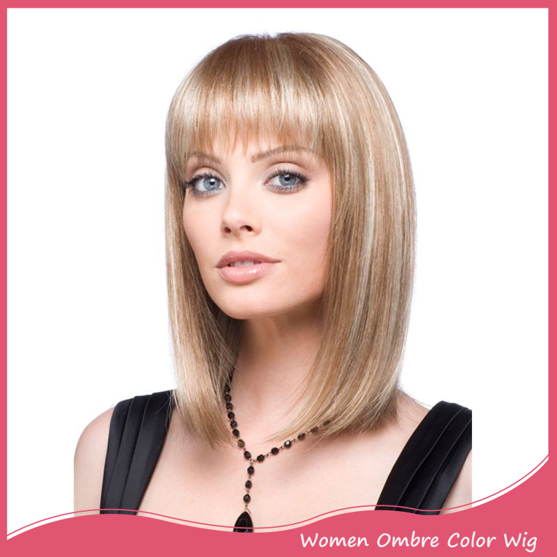 Female Wig Long Straight Brown Wigs Synthetic Wig With Bangs African American Heat Resistant Synthetic Hair Wigs Afro Peruca<br><br>Aliexpress