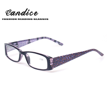 New Fashion Colorful Reading Glasses Men and Women Spring Hinge With Flower Print Eyeglasses Occhiali Lettuar Diopter 0.5 to 6.0