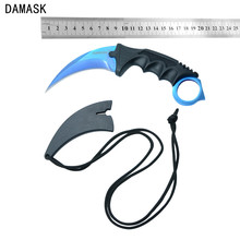 High Quality Stainless Steel Machetes Knife Damask Brand CS GO Counter Strike Karambit Knife Outdoor Hunting Camping Knife Tools(China)
