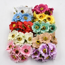12pcs Artificial Flower high quality Silk Cherry Bouquet For Wedding Home Decoration DIY Scrapbooking Wreath Craft Flowers(China)