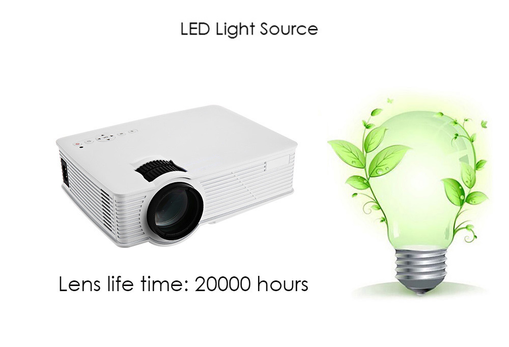 GP - 9 Portable Home Theater 2000 Lumens 1920 x 1080 Pixels Multimedia HD LCD Projector