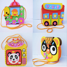 1 Set Creative Kids Baby Educational 3d Puzzles EVA Foam Puzzles DIY Children Handmade Bags EVA Cartoon Educational Toys