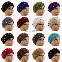 Spikies Rivet Knitted Winter Warm Ear Warmer Headband Handmade Crochet Headwrap Tenia Hair Accessories