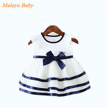 Malayu Baby 2016 Summer Baby in Europe and America United States Communications Baby Tag Temperament Baby Girl Lace Dress