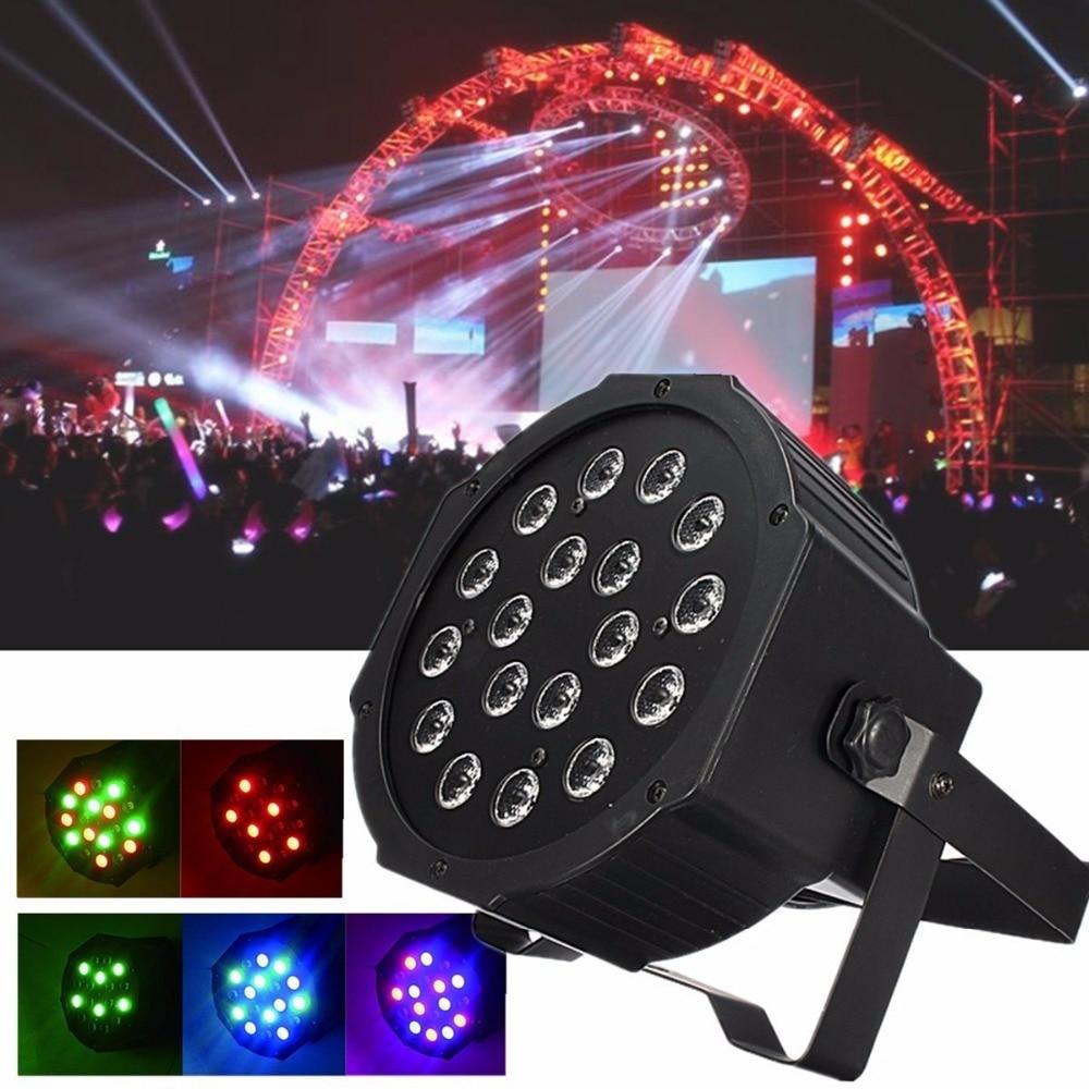 18W RGB LED Stage Light Par Four-Channel  DMX-512 Lighting Laser Projector Party DJ Light<br><br>Aliexpress