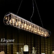Restaurant Lamp Glass Crystal Pendant Light L60cm*d15cm Dining Room Led Rectangle Lamp Bar Counter Personalized Lighting for DHL