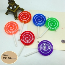 Kawaii Lollipop, 3d resin cabochon for phone deco  hair bow diy  phone deco  Embellishment Free Shipping!