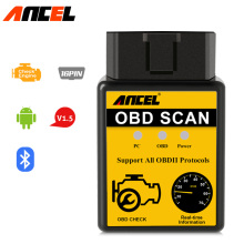 Original ANCEL OBD 2 ELM327 V1.5 Bluetooth Yellow Car Diagnostic Scan Tool Code Scanner OBD2 Bluetooth Apply to Android(China)