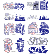 New Embossing Steel Fire Truck Marines Cutting Dies Stencils DIY Scrapbooking Card Album Photo Painting Template Metal Craft(China)