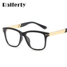 Ralferty Fashion Square Glasses Women Men Eyeglasses Frame With Clear Lens Vintage Optic Myopia Frames Black Spectacles 2202(China)