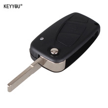 KEYYOU New Flip Folding Remote Key Case 3 button black 3 BTN For FIAT 3 button Punto Ducato Stilo Panda free shipping
